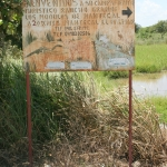 Sign for Los Llanos tourist camp